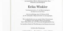 Wir trauern um Erika Winkler