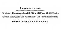 Herzliche Einladung zur GR-Sitzung am 28.März 2017