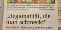 """Auszeichnung """"Aufsteiger des Jahres"""" Markus Bsteh"""